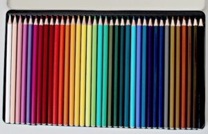 Image showing a box of coloured pencils