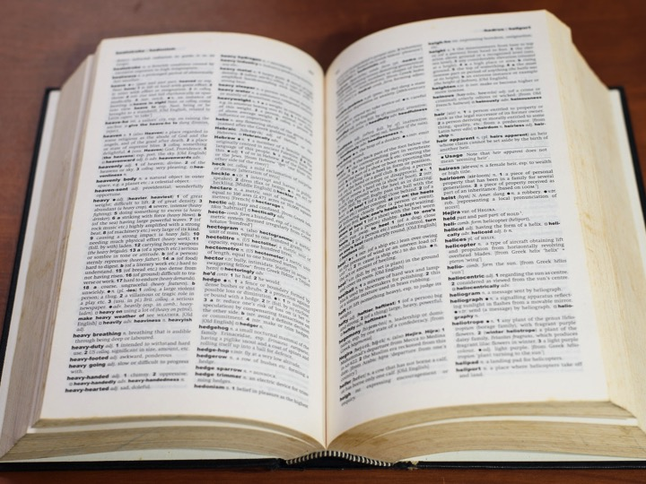 "Image of a dictionary illustrating useful links for ""Dictionaries"""